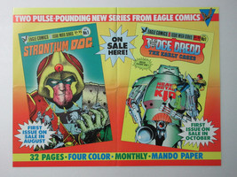 1980s Judge Dredd/Strontium Dog 20 3/4 x 16 Eagle Comic promotional promo poster - $49.99
