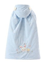 Baby Cloak Fall Winter Funds Thick Warm Cotton Shawl Rabbit Pattern Blue image 2