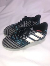 Adidas Nemeziz Messi Fg Soccer Cleats Black/ Grey And Blie ( Size 1Y)YOUTH - $9.89