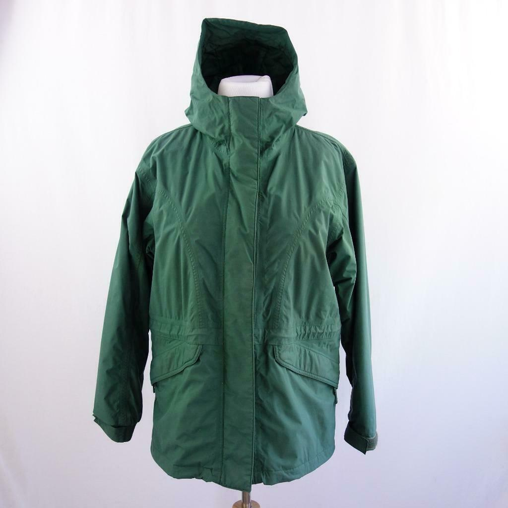 Primary image for Cabelas Nylon Green Hooded Parka Jacket Womens Sz L