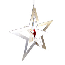 3D Aluminum and Crystal Star Ornament image 7