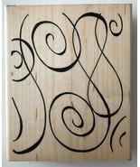 "Starry Night Swirl Background Rubber Stamp V145 JRL Design Large 5.5 x 4.5"" - $5.80"