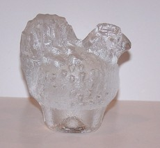 LOVELY VINTAGE KOSTA BODA SWEDEN ART GLASS CHICKEN/HEN FIGURINE PAPERWEIGHT - $25.24