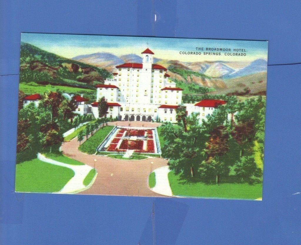 THE BROADMOOR HOTEL COLORADO SPRINGS CO ELMER C. CLARK POSTCARD