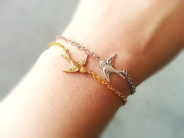 Soaring Sparrow Bracelet Friendship Bracelets Bird Bracelet Friendship B... - $18.00+
