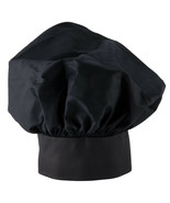 3 PACK NEW  EASY WEAR CHEF HAT BLACK CLOTH ONE SIZE FIT ALL FREE SHIPPIN... - $7.91
