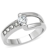 Stainless Steel CZ Ring Sz 6 - $27.99