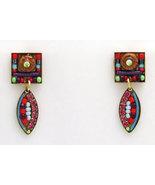 Signed ADAYA Maya Micro Mosaic Earrings - $39.99