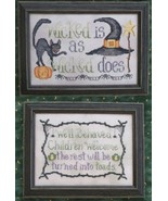 Wicked Stitches halloween cross stitch chart Waxing Moon Designs - $7.20