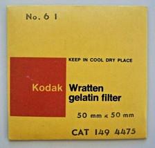 Kodak Wratten 61 Green (50mm-2in) Gelatin Filter NEW OLD STOCK - cat 149-4475 - $25.69