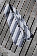 Alfani Gray Striped Silk Tie  - $9.95