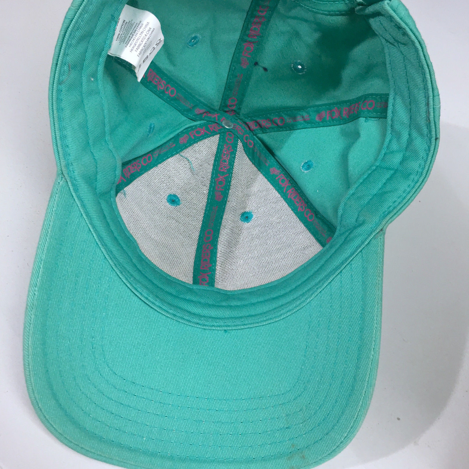 Fox Riders Green Snapback Baseball Cap Hat