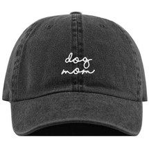 Dog Mom Faded Black Baseball Hat Embroidered Dad Trucker CapSoft Cotton ... - $17.10