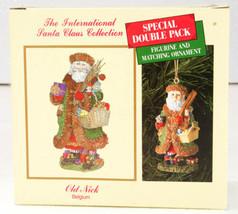 International Santa Claus Collection Old Nick BELGIUM Figure & Ornament NIB - $19.99