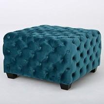 ModHaus Living Modern Contemporary Button Tufted Velvet Upholstery Foots... - $183.13