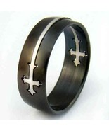 Charm Double Cross Style Stainless Steel Ring 10 - mans ring - $12.99