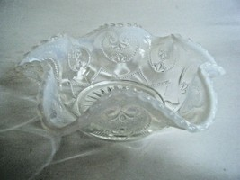 Fenton Crystal Opalescent Heart Pattern Berry Bowl - $9.85