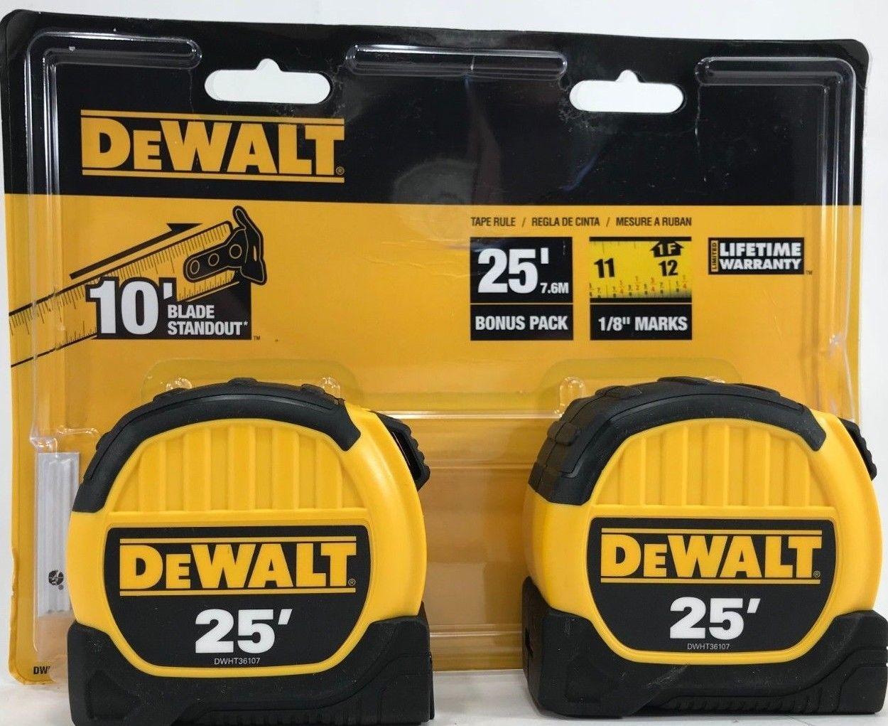 DeWalt - DWHT79307 - 2-Pack 25 ft Tape Measure - $39.55