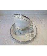 TOWNE FINE CHINA BAVARIA GERMANY COTILLION PATTERN TEACUP AND SAUCER SIL... - $14.80
