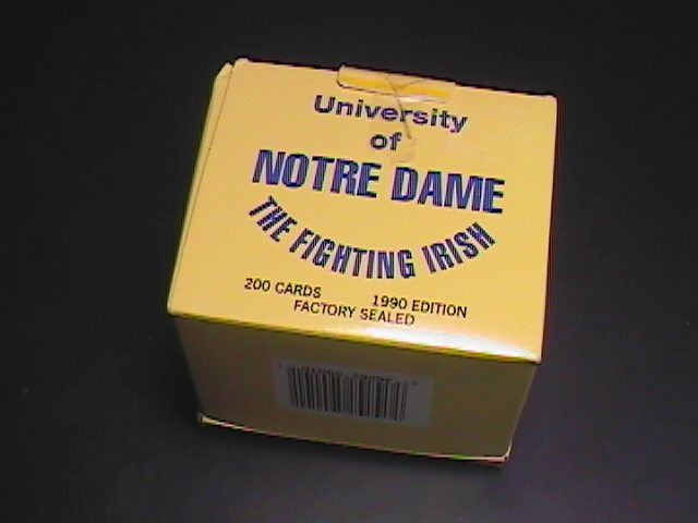 Sport memorabilia cards notre dame 1990 box set of 200 01