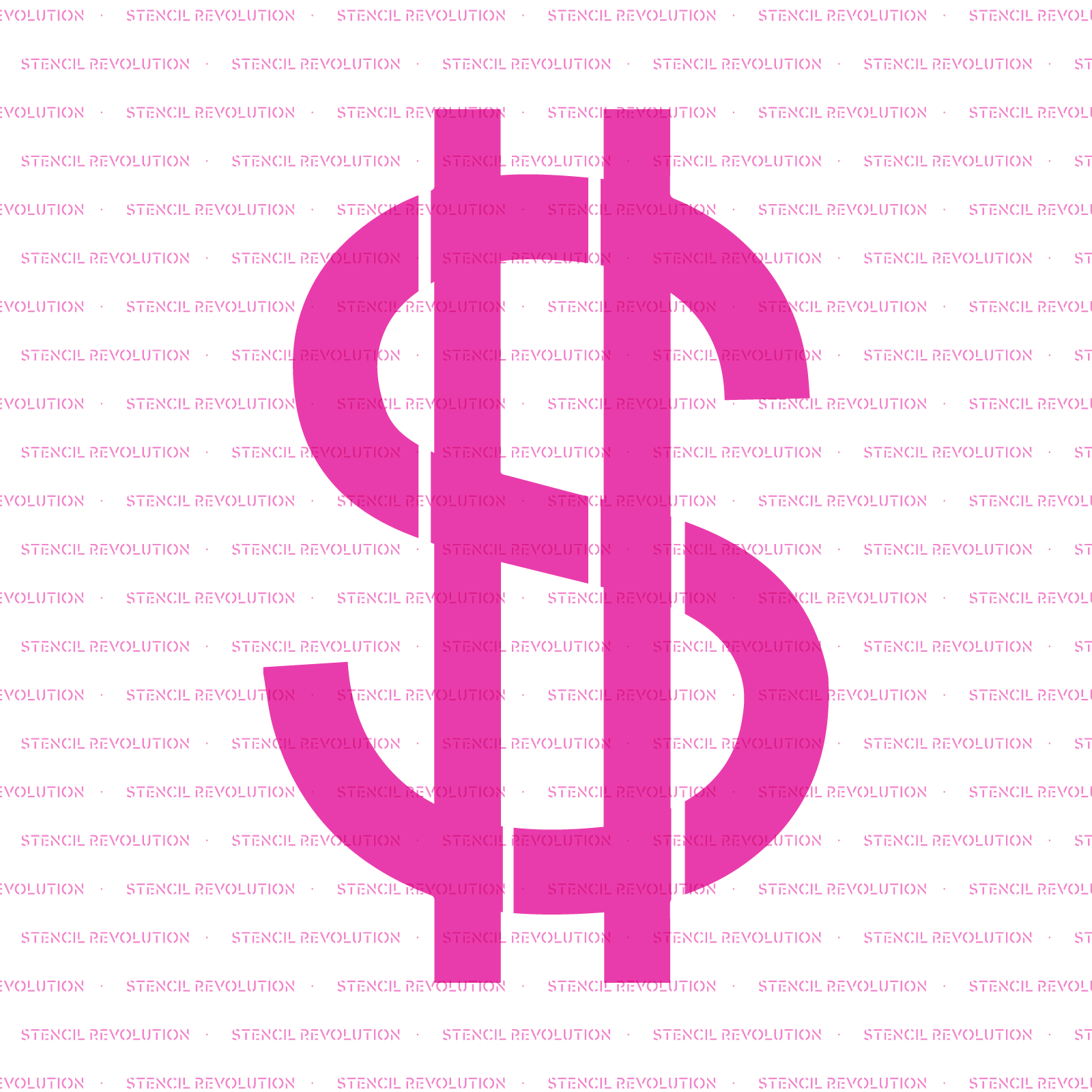 Dollar Sign Stencil - Reusable Stencils of Dollar Sign in Multiple Sizes