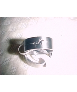 fashion mens stainless steel gecko cut ring size 9 free shipping - $12.99