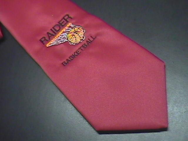 Wolfmark Collection Neck Tie Raider Basketball Red