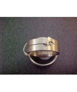fashion mens stainless steel gecko cut ring size 11 - free shipping - $12.99