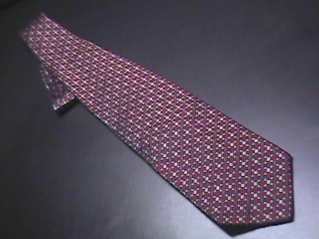 Tie jos a bank italian red white   blue woven 01