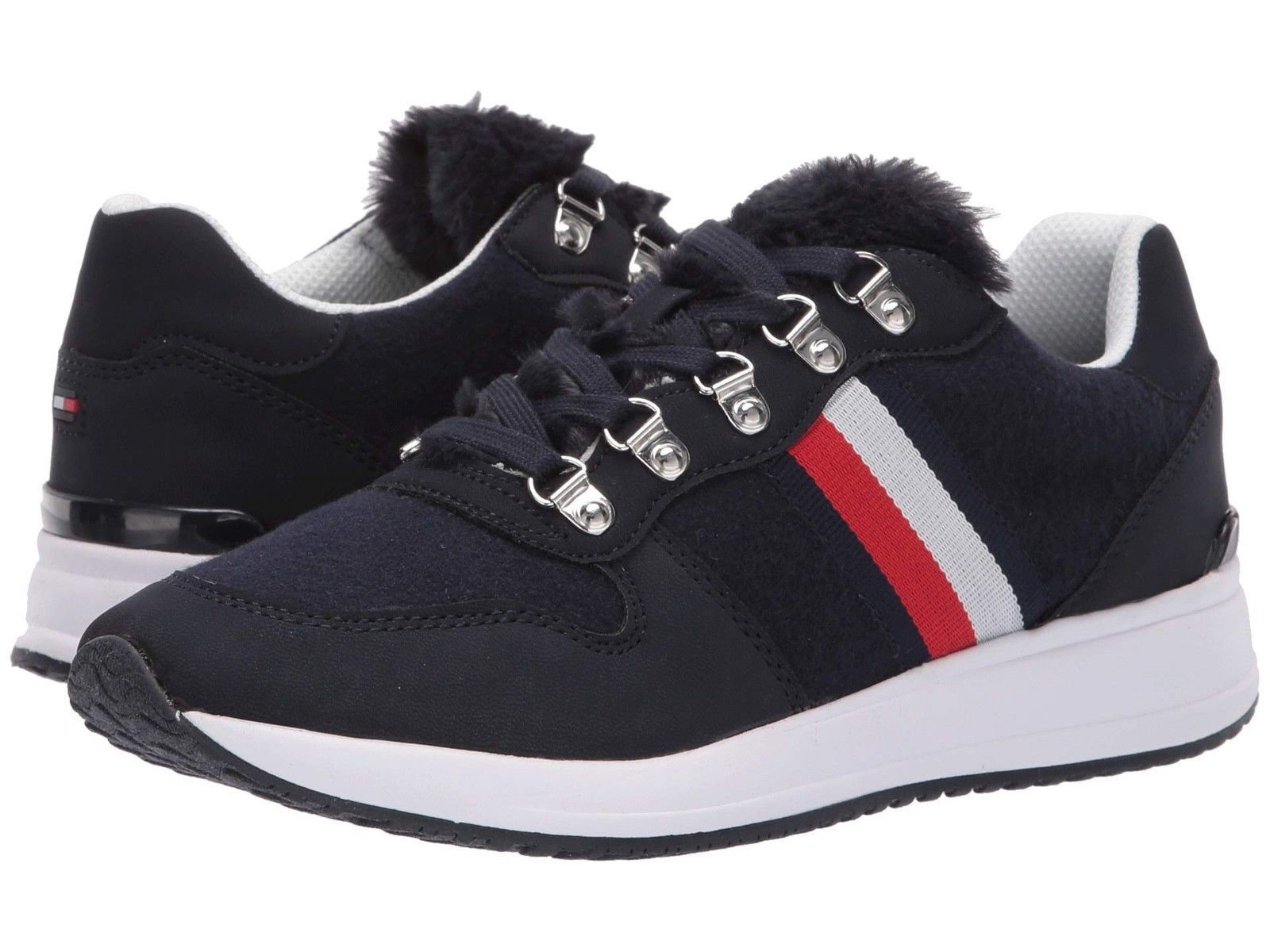 Tommy Hilfiger Women's Sport Athletic Lace-Up Fashion Fur Sneakers Shoes Riplee
