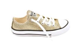 Converse Junior CTAS OX 660046 Shoes Gold/Natural/Wht Gold Size UK 13 - $49.48