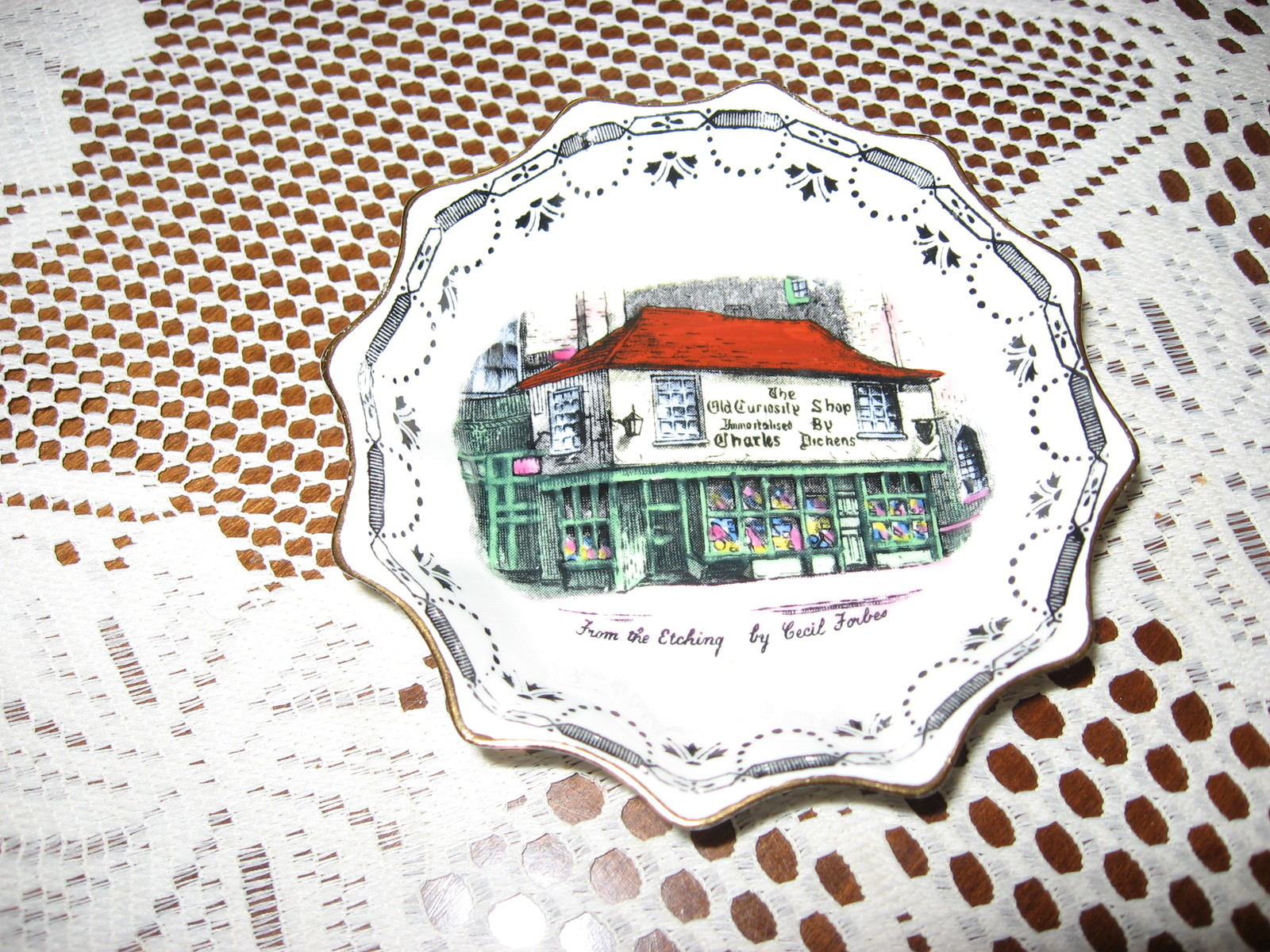 Primary image for VTG Old Curiosity Shop-Trinket Dish-Rosina Bone China- Souvenir-London