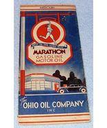 Vintage Marathon Gasoline Motor Oil Missouri Road Map Ca 1950 - $12.95