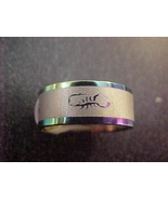 vogue blue scorpion stainless steel ring size 8 - free shipping - $12.99