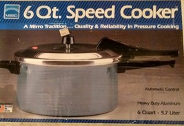 MADE IN USA MIRRO 6 QUART SPEED COOKER NEW IN BOX 6 QUART HEAVY DUTY ALU... - €60,93 EUR