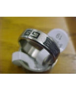 chic girl stainless steel fancy design ring size 9 - free shipping - $12.99