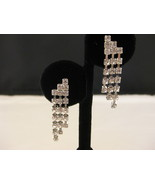 Austrian Crystal Chandelier Earrings Silvertone... - $14.00