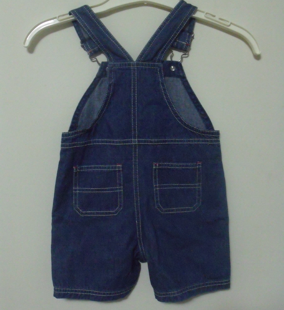 Infant Boys NWT Oranges and Apples Denim Bib Shorts Size 12 to 18 months