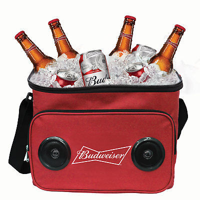 Budweiser Bluetooth Speaker Cooler Bag Red