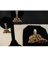 Hat Earrings And Hat Slide New - $14.00