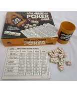 Roll And Score Poker Game - ES Lowe 1977 Vintage 100% Complete - $2.48