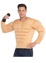 AMSCAN Muscle Shirt Halloween Costume Accessory for Men, One Size Standard - $69.29