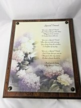 Friends Plaque Wall Decor Thank You For Being Special Friend Brown - $9.77