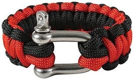 Rothco Paracord Bracelet with D-Shackle, Red/Black, 9'' - $7.93