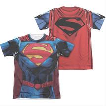Superman New 52 Costume Sublimation T-Shirt Blue - $27.98