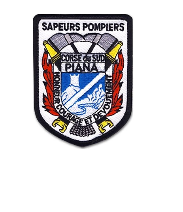 Peurs pompiers piana sdis 2a corse du sud french fire department  white cotton 3.5 x 2.5 in 9.99