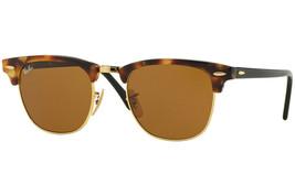 Ray Ban Men's Square Sunglasses RB3016 1160 Havana Brown Lens 51mm Authe... - $111.55