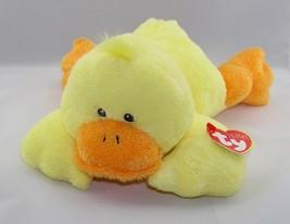 "NWT Ty Pluffies Yellow Orange DUCKY DUCK Laying Plush Stuffed Animal 10""... - $38.60"