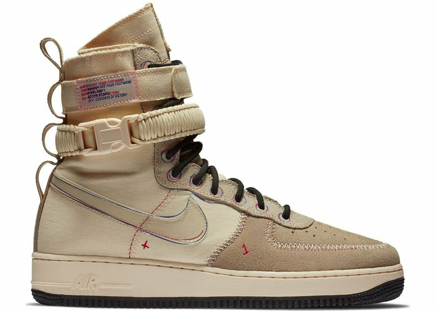 """NIKE SF SPECIAL FIELD AIR FORCE 1 HIGH """"MUSLIN"""" SIZE 10.5 NEW W/BOX (AT4647-100)"""