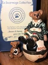 Boyds Bears Le Bearmoge Treasure Box - Soccer - Rocky Score Score Score!... - $5.75
